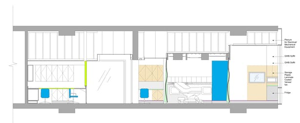 Care Team Station, Corridor, and Patient Room Elevation