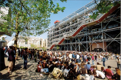Centre Pompidou. Photo courtesy of Rogers Stirk Harbour & Partners.
