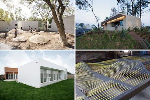 Clockwise from top left, works by Tatiano Bilbao, Rozana Montiel, Sandra Vivanco and Nora Enriquez.