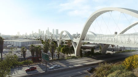 The Sixth Street Viaduct project in Los Angeles, which C.W. Keller is doing fabrication work for. Rendering courtesy of Michael Maltzan Architecture.