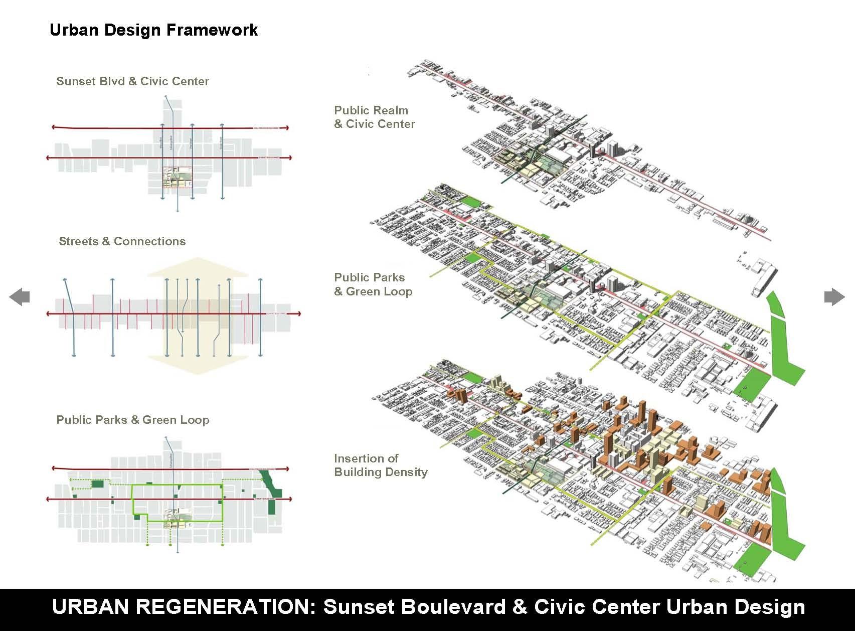 Sunset Boulevard Amp Civic Center Urban Design Plan