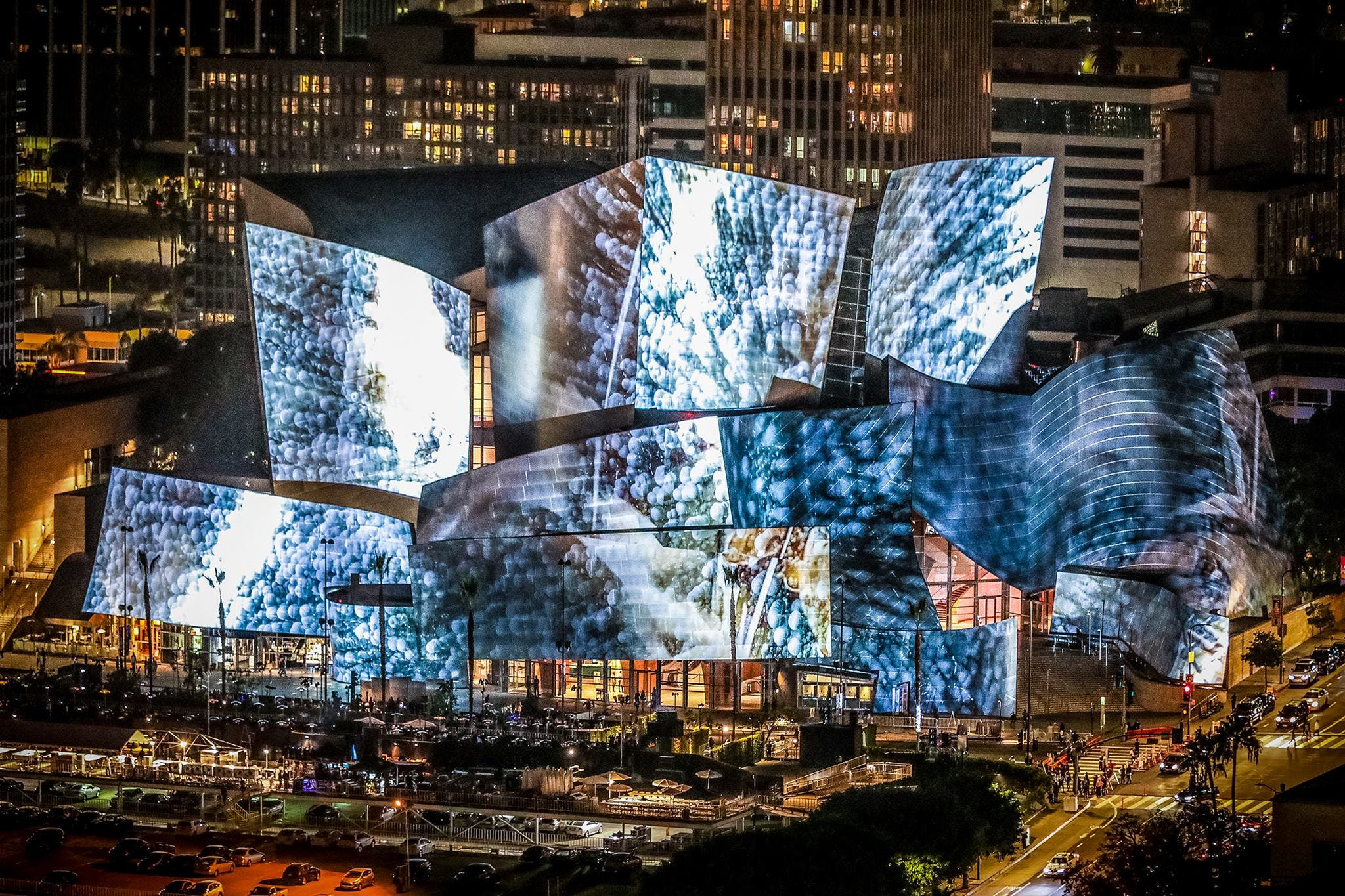 Walt Disney Concert Hall Lights Up Over The Weekend With Projections