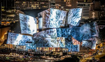 Walt Disney Concert Hall lights up over the weekend with projections by Refik Anadol