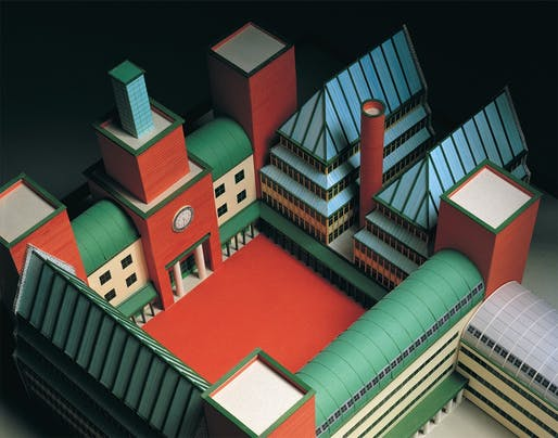 Aldo Rossi: UBS Lugano. Image courtesy of MAXXI.