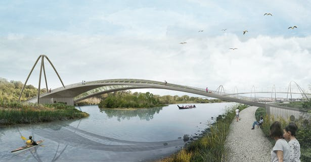 Duwamish Crossings: A design proposal to replace the West Seattle Bridge (Wittman Estes)