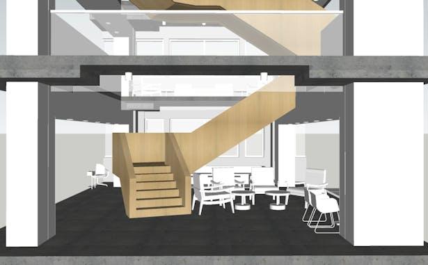Stair Process rendering using Sketchup