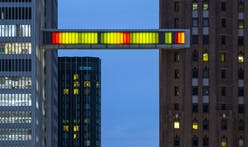 'Detroit Skybridge' lights up abandoned walkway with work by contemporary artist Phillip K. Smith III