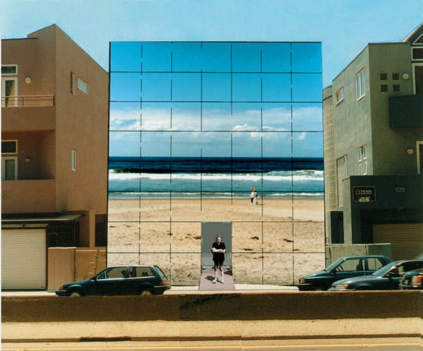 The house would be sandwiched between two existing houses that block the view of the beach from the passersby. The Malibu Video House allows the passersby to see through the house to the real beach through the real time video wall.