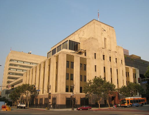 Los Angeles Times Building in downtown Los Angeles, CA. Image: Minnaert/Wiki.