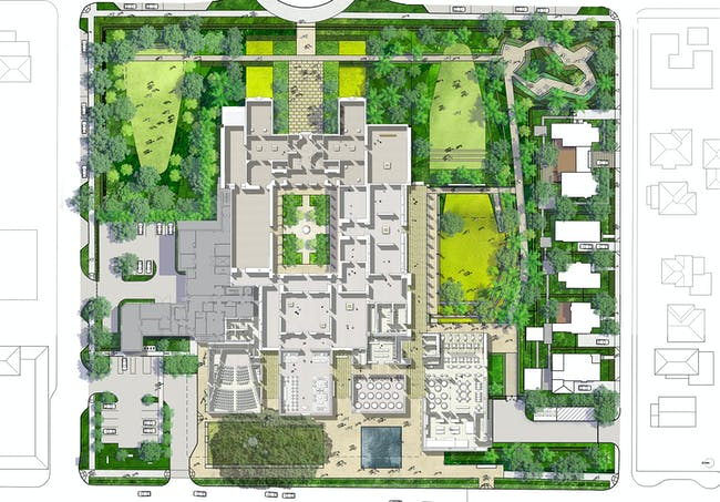 Site plan of the New Norton Museum of Art, designed by Foster + Partners. (Image courtesy of Foster + Partners)