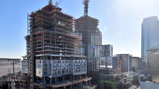 "Screenshot from The Grand's construction time-lapse video. Source: <a href=""https://www.instagram.com/thegrandla/"">@thegrandla</a>/Instagram"