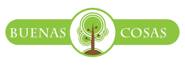 Logo design for Buenas Cosas, a not for profit association of family, friends and neighbors who serve their community and nature in Guatemala.