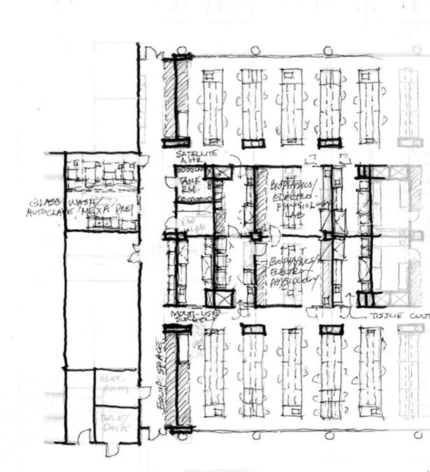 Detailed Lab Layout Sketch