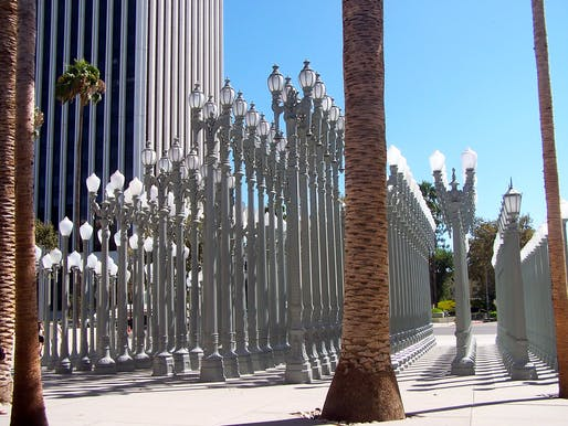 LACMA's popular outdoor installation Urban Light by Chris Burden. Image © Elliot Harmon via Flickr (CC BY-SA 2.0)