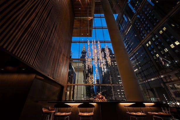 Bar Chandelier - Evening View