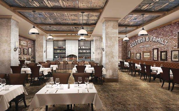 Rendering of the Italian Family owned Restaurant
