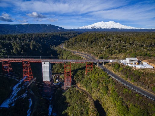 Makatote rail viaduct rejuvenation, New Zealand, by Opus International Consultants. Photo: Opus International Consultants.
