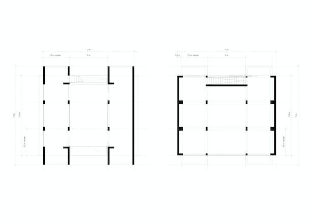 Floor plans Ark-shelter