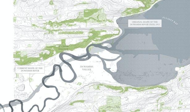 Duwamish Crossings: River Site Map (Wittman Estes)