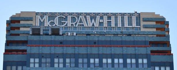 McGraw-Hill sign after restoration.