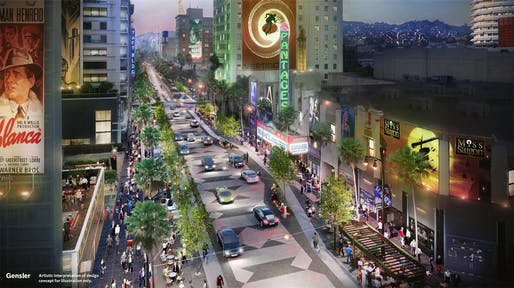 Image: Gensler, via the Hollywood Walk of Fame concept plan for Heart of Hollywood.