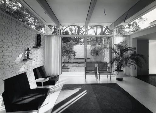 View of the home's living room. Image courtesy of the Tulane University Special Collections Southeastern Architectural Archive.