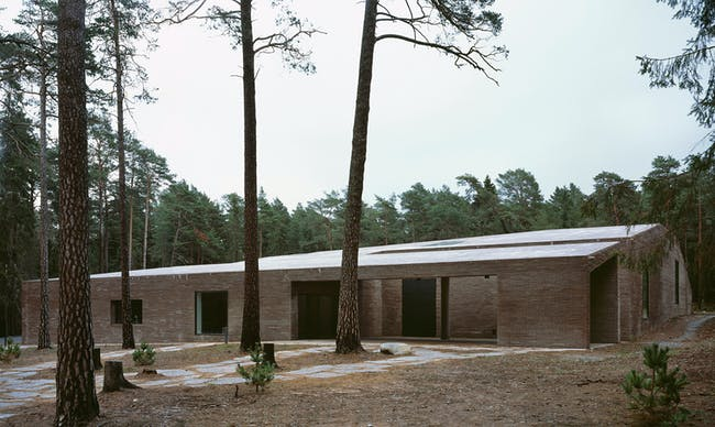 The New Crematorium of the Woodland Cemetery in Stockholm, Sweden by Johan Celsing arkitektkontor AB. Photo: Ioana Marinescu