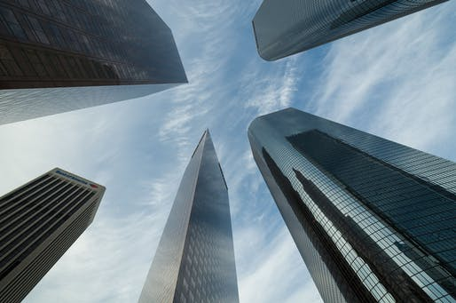 Skyscrapers on Bunker Hill in Downtown Los Angeles. Image courtesy Wikimedia Commons user Tuxyso. (CC BY-SA 3.0)