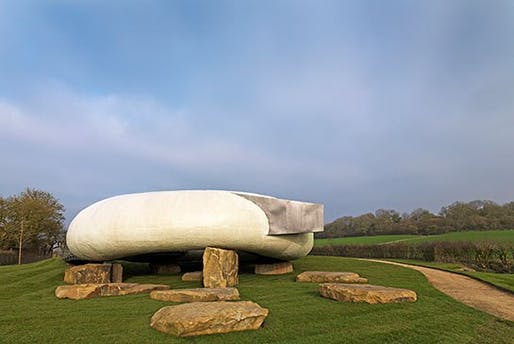 The 2014 Serpentine Pavilion by Smiljan Radic has moved to Somerset. Credit: Architectural Digest