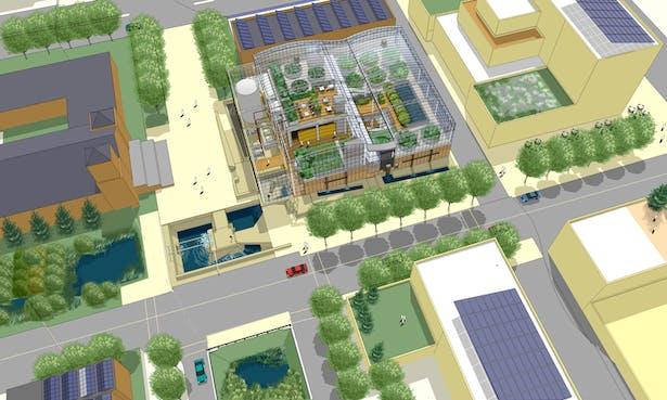 Community center with Living Machine(TM)