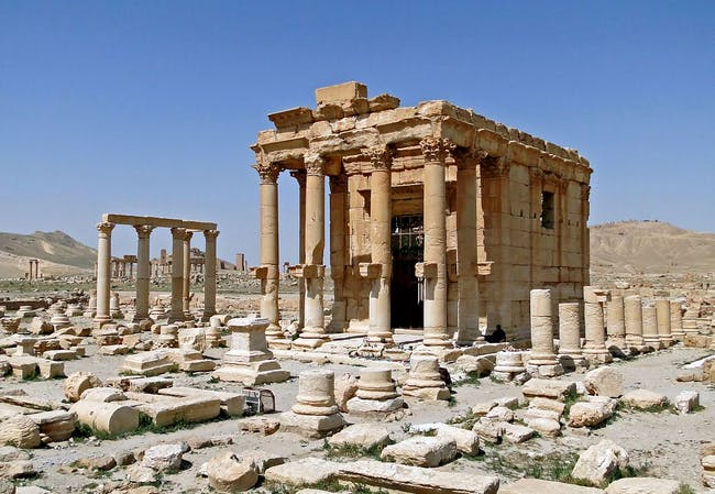 The photo shows the Baal Shamin temple prior to its destruction. Volunteers of the Institute for Digital Archaeology were able to digitally archive the 2,000-year-old structure for the Million Image Database project just in time before ISIS fighters seized control of Palmyra's historic site. (Photo: Bernard Gagnon/Wikimedia Commons)