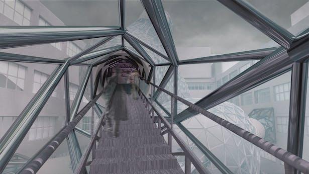 Conjunctive Amorphoid, stairway view