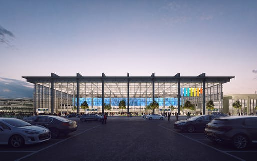 Foster + Partners' victorious Marseille Airport extension proposal. Image courtesy of Foster + Partners