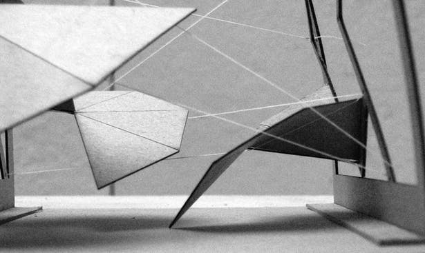Study Model- Folding Tensegrity-Superstructure