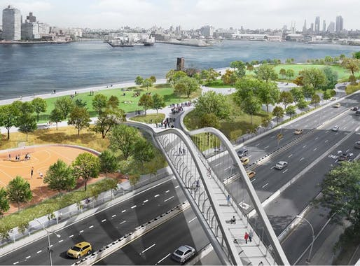 View of the proposed project. Image courtesy of the NYC Department of City Planning.