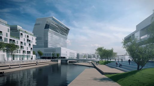 Rendering of Oslo's new Munch Museum by estudio Herreros. Image: still from themunchmuseum YouTube video.