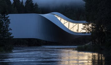 BIG's art museum-bridge-sculpture hybrid The Twist opens in Norway