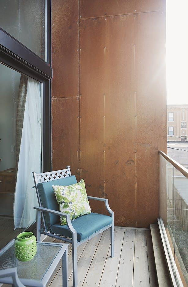 Master bedroom private deck
