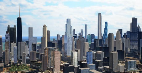 An update to my 3D model of Chicago