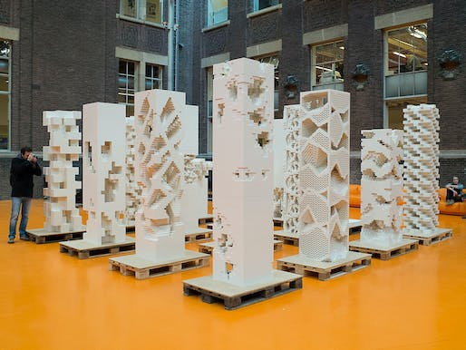 The exhibition 'Porous City' asks the question whether there is a European alternative to the skyscraper typology (Photo: Frans Parthesius)