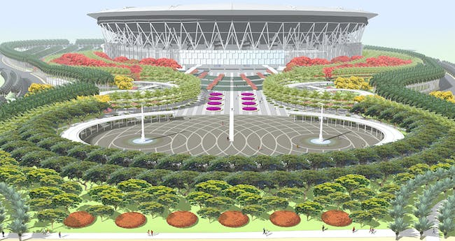 Philippine arena. Credit: PWP Landscape Architecture. Image courtesy of Populous