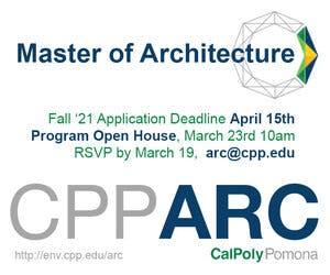 Cal Poly Pomona M.Arch Program Open House