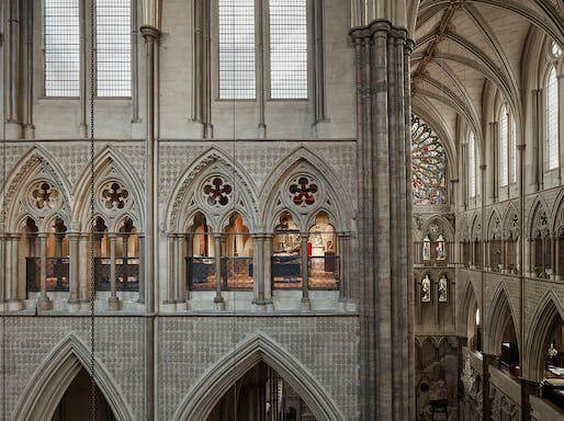 Westminster Abbey Triforium Project, by Ptolemy Dean Architects Ltd. Photo: Alan Williams.