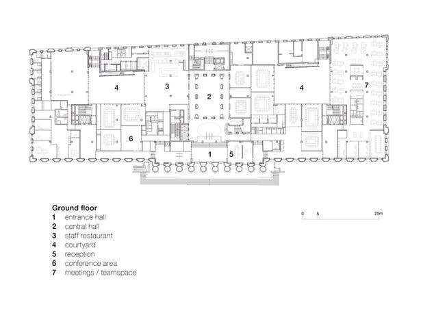 first floor plan © kadawittfeldarchitektur