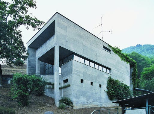 Casa Kalman in Brione sopra Minusio, Switzerland, 1974-75, by Luigi Snozzi. Photo: Wikimedia Commons user Hans-juergen.breuning.