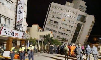 Five buildings tilt dangerously after magnitude 6.4 Taiwan quake