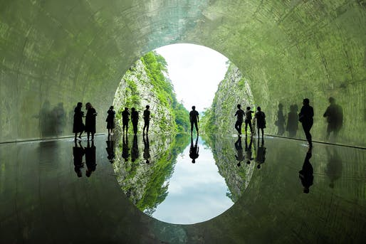 """Tunnel of Light"" by MAD Architects, located in Echigo-Tsumari, Japan. Image: MAD Architects."