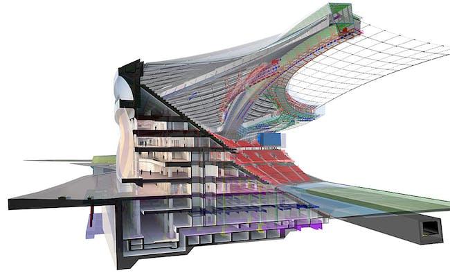 Perspective section. Image © Zaha Hadid Architects.