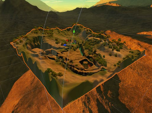 'Abyssinian Cyber Vernaculus,' 2019. 3-D generated terrain of Lalibela region in Ethiopia. Courtesy the artist. From the 2020 individual grant to Miriam Hillawi Abraham for 'Abyssinian Cyber Vernaculus.'