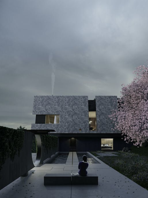 Utsuroi House Courtyard. All Imagery courtesy of Hyde+Hyde